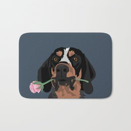 Cooper Bluetick coonhound Bath Mat