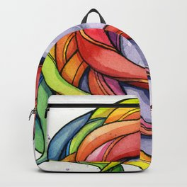 Rainbow Unicorn Watercolor Backpack