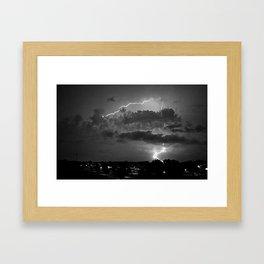Electric Pretzel - Black & White Framed Art Print