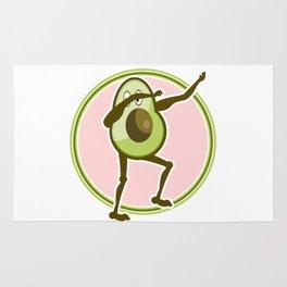 Avocado Dabbing Rug