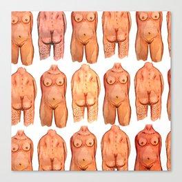 naked bodys Canvas Print