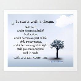 It Starts with a Dream Art Print