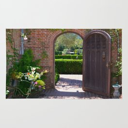 door to the gardens Rug
