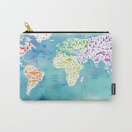 worldmap continents and oceans Carry-All Pouch