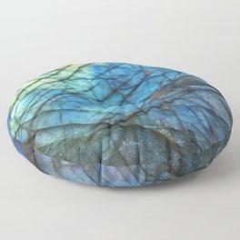 Royal Labradorite Crystal Agate Gemstone Print Floor Pillow