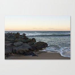 Side Beach - Color  Canvas Print