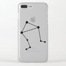 Libra Astrology Star Sign Minimal Clear iPhone Case