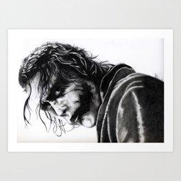 The joker - Heath Ledger Art Print