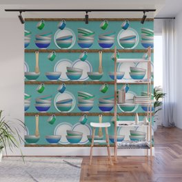 Modern Farmhouse Shelves Wall Mural