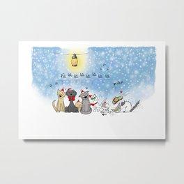 Christmas cats Metal Print