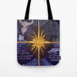 The Four Lights of Winter Tote Bag