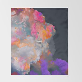 Orage (Colorful clouds in the sky III) Throw Blanket