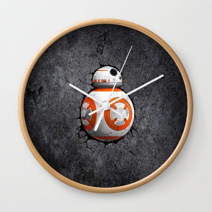 Bb8 Cute Droid Wall Clock By Kesen Society6
