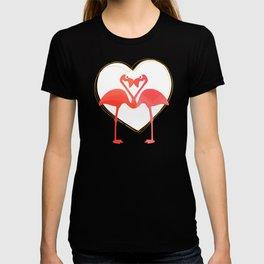 lovebirds - flamingos in love T-shirt
