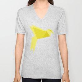 Origami Bird Unisex V-Neck