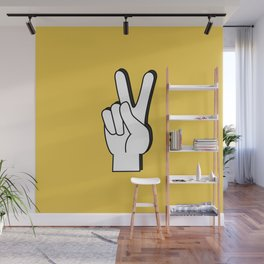 Peace Sign yellow Wall Mural