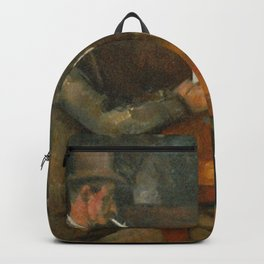 Paul Cézanne - The Card Players Backpack
