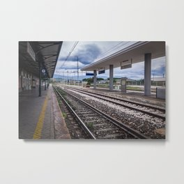 Do Not Cross The Railway Lines Metal Print