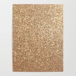 Copper Rose Gold Metallic Glitter Poster