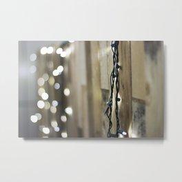 String of Light Metal Print