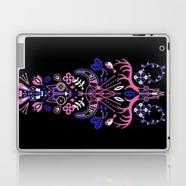 La Vie & La Mort – Pink & Periwinkle on Black Laptop & iPad Skin