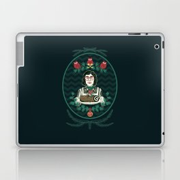 Yule Log Lady (in Green) Laptop & iPad Skin