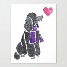 Watercolour Standard Poodle Canvas Print