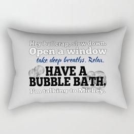 Relax, Have a Bubble Bath Rectangular Pillow