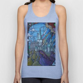 Hogwarts stained glass style Unisex Tank Top
