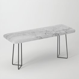 Modern faux grey silver glitter ombre white marble Bench