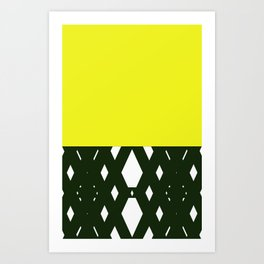 yellllllow Art Print