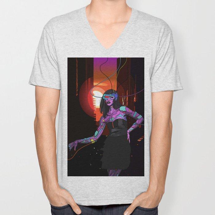 Cybergirl Unisex V-Neck