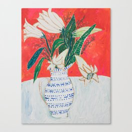 Easter Lily Bouquet Canvas Print