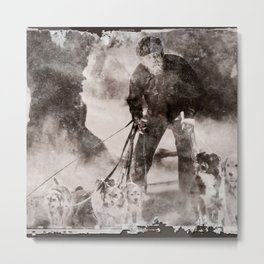The Dog Walker Metal Print