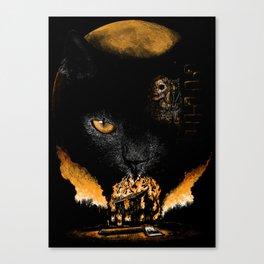"""""""The Black Cat"""" - Edgar Allan Poe Series Canvas Print"""