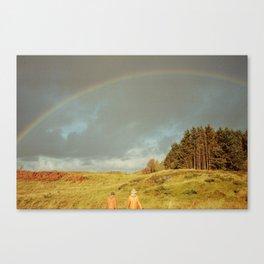 norway rainbow Canvas Print
