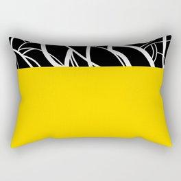 Yellow Zebra Rectangular Pillow