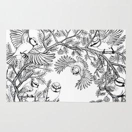 Birds tree botanical pattern Rug
