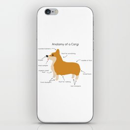 Anatomy of a Corgi iPhone Skin