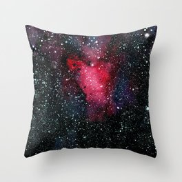 Red Cosmos Art Painting Throw Pillow