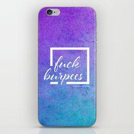 Fuck burpees -  full color iPhone Skin
