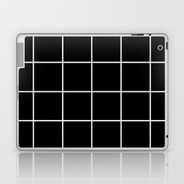 BLACK AND WHITE GRID Laptop & iPad Skin