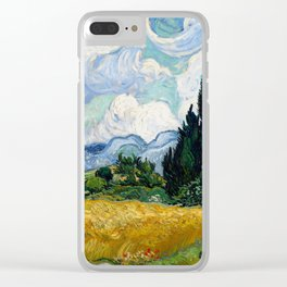 Wheat Field with Cypresses - Vincent van Gogh Clear iPhone Case