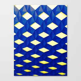 Trapez 2/5 Blue & Yellow by Brian Vegas Canvas Print