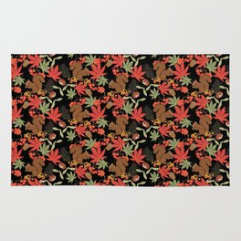 Autumn squirrel Rug