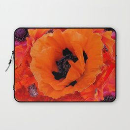 DECORATIVE ORANGE POPPY FLOWERS COMPOSITION Laptop Sleeve