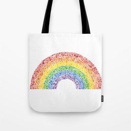 Rainbow Floral Watercolor Tote Bag