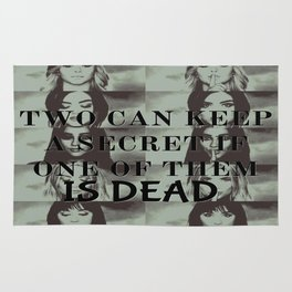 Two can't keep a secret Rug
