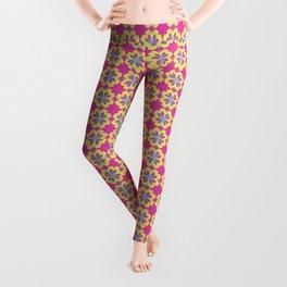 Pink Mediterranean tiles pattern Leggings