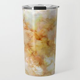 Gold Rippled Marble Travel Mug
